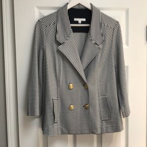 Stripped/ nautical style jacket- never worn